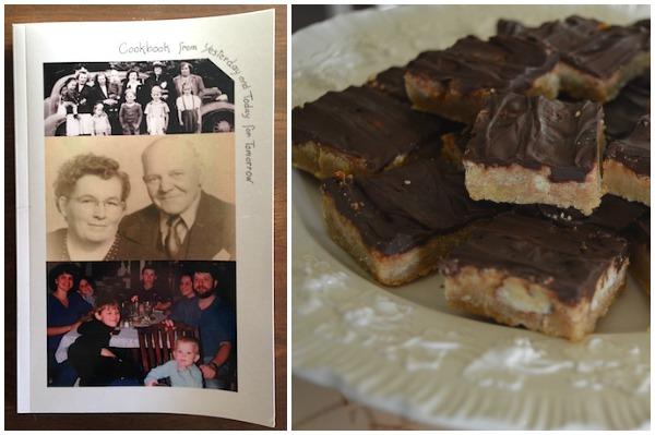 Heritage Cookbook and Pecan Bars