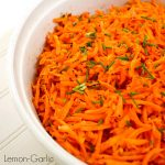 Lemon Garlic Baked Grated Carrots - amazingly easy & flavorful