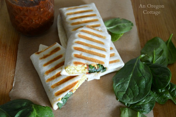 Mediterranean Breakfast Wraps - freezer friendly and flavorful
