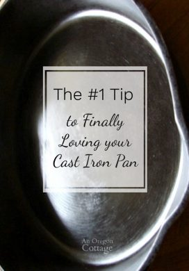 The best tip to care for your cast iron pan.