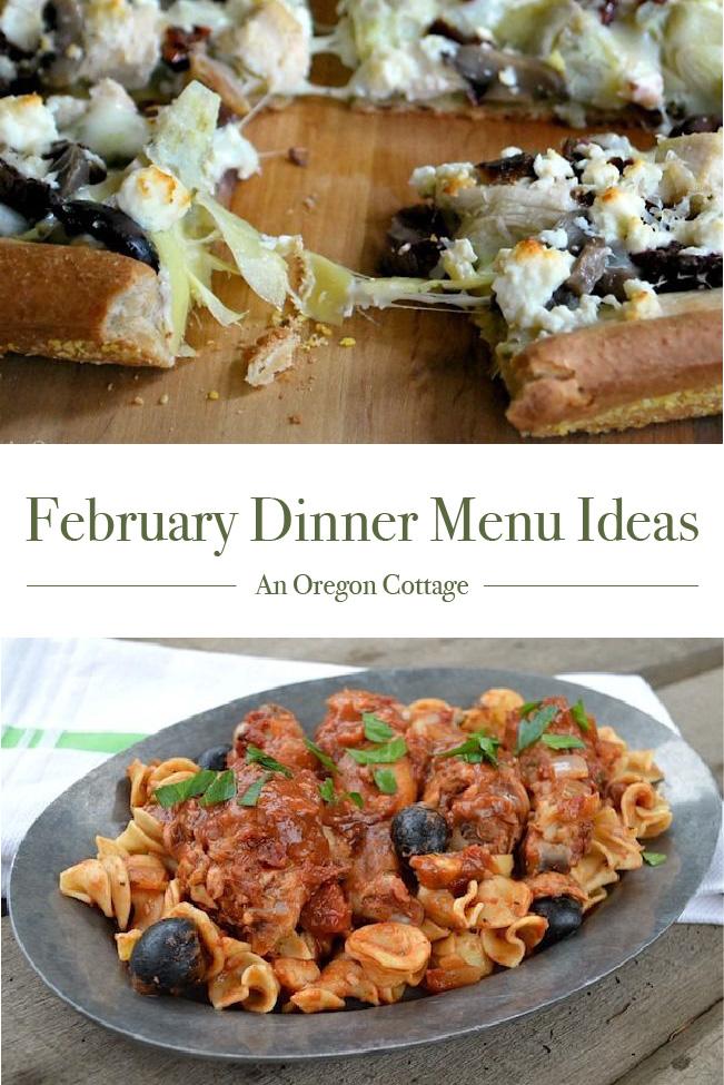 February Dinner Menu Ideas