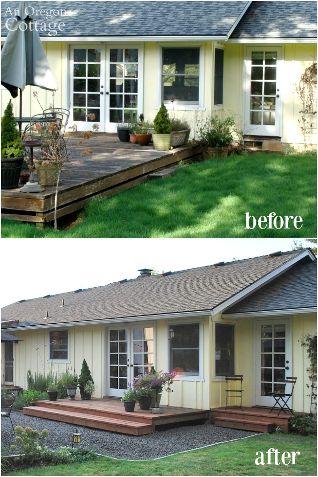 Backyard makeover before and after-Master Bedroom door