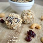 Cashew, Cranberry & White Chocolate Granola Bites are an easy, satisfying real food snack
