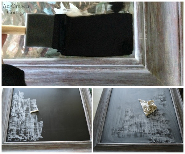 Creating Chalkboard on an Existing Glass Picture