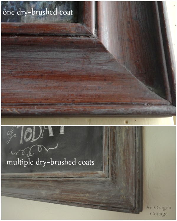 Creating Weathered Frame on DIY Chalkboard From a Picture