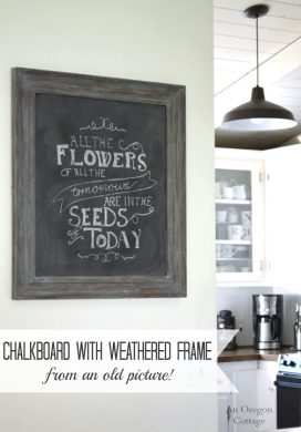 DIY Chalkboard & Weathered Frame {from an Old Picture}