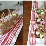 Easter Centerpiece-Marble Eggs and Dollar Spot Baskets