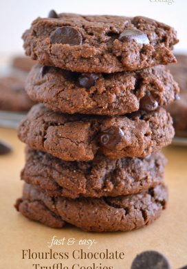 Flourless Chocolate Truffle Cookies pin
