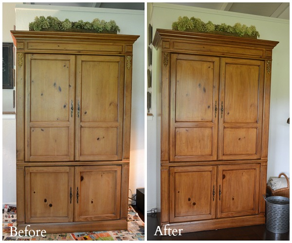 Gel Stained Armoire Before-and-After