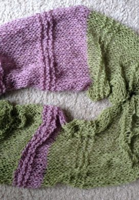 Lacy Cashmere Knitted Infinity Scarf