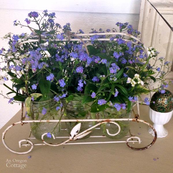 March Brunnera Flower Arrangement