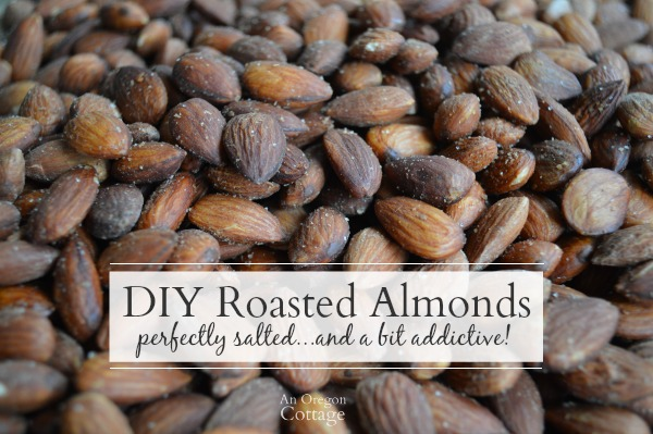 DIY Roasted and Perfectly Salted Almonds are just a bit addictive!