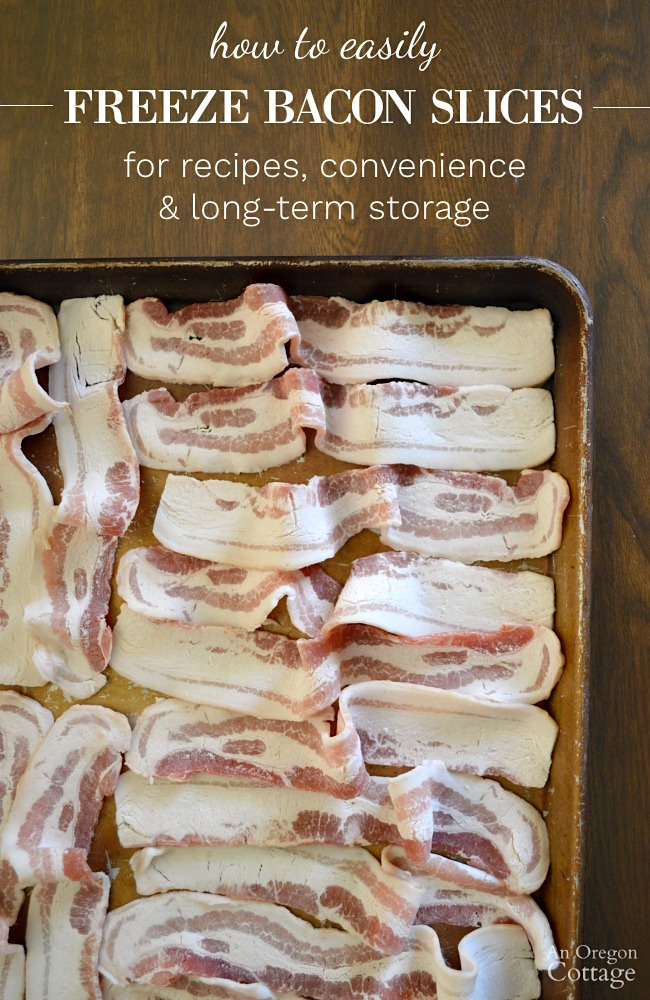 How to freeze bacon slices for easy recipe use and long-term storage.