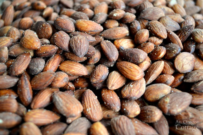 Perfectly salted DIY Roasted Almonds