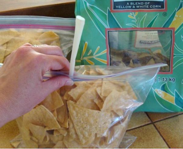 Sealing ziplock bags of chips