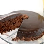 WOW. A drool-worthy Dark Chocolate Spelt Cake with Mocha Ganache.