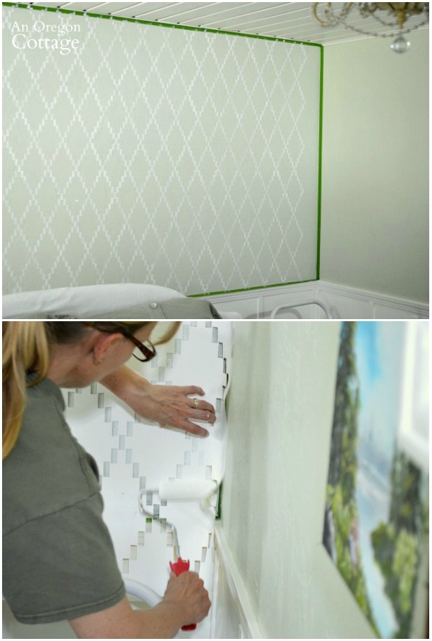 How to Stencil an Accent Wall-completing corners