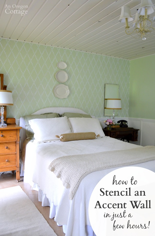 How To Stencil An Accent Wall An Oregon Cottage