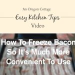 Kitchen Tip-How to Freeze Bacon so you can use just a few pieces at a time - brilliant!