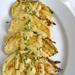 Roasted Cabbage Wedges with Onion Dijon Sauce pin