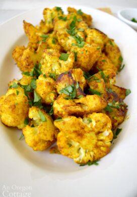 Turmeric Roasted Cauliflower close