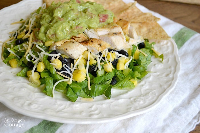 Chipotle Spiced Grilled Chicken Salad with Corn and Black Beans
