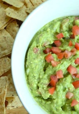 Chunky Guacamole and Chips