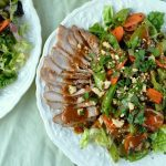 Thai Grilled Pork and Vegetable Salad with Spicy Peanut Dressing