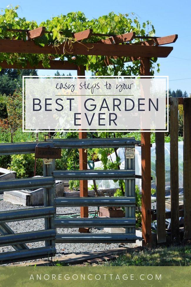 easy steps to best garden ever-garden gate