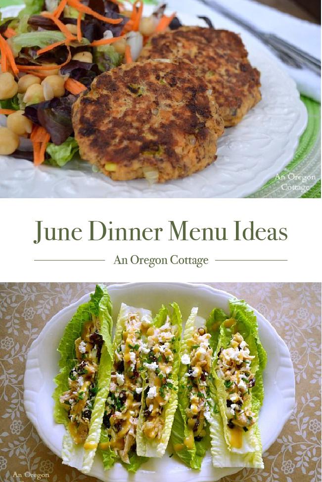 June Dinner Menu Ideas