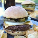 Brew pub style burgers are easy to make at home using this smashed garlic grilling technique (bonus saving money!)_650x900