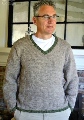 Easy man's knitted sweater