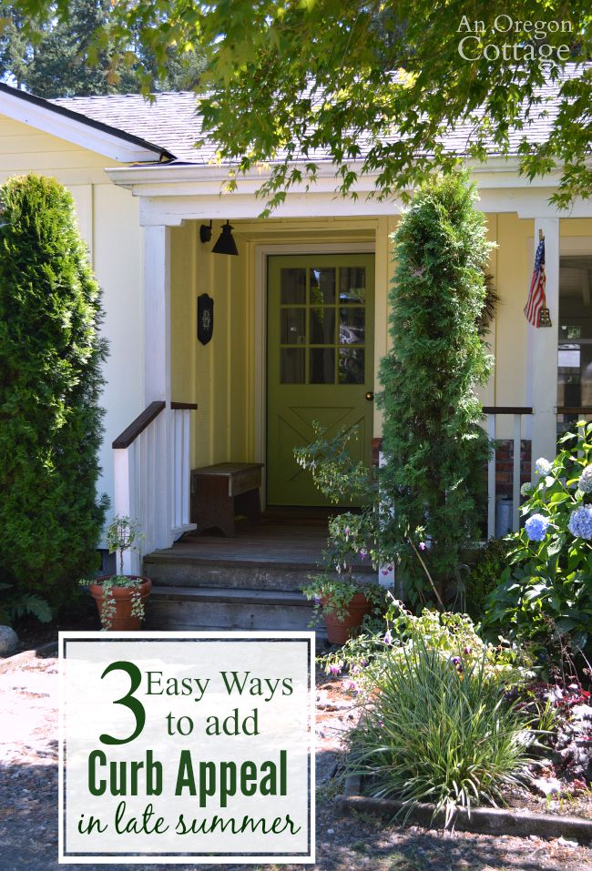 Easy ways to add curb appeal in late summer by freshening your home's exterior to enjoy throughout the fall season.
