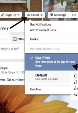Facebook See First option