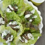 Grab this reciep for Greek Style Grilled Beef Lettuce Wraps- it's a perfect, healthy family meal everyone will love