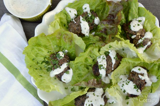 Grilled Beef Greek Style Lettuce Wraps