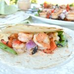 Grilled shrimp and vegetable tacos make an easy family meal