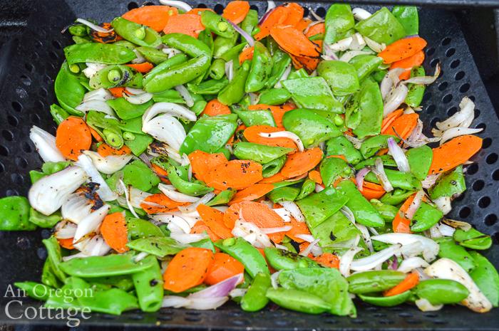 Grilled vegetables for Thai grilled salad