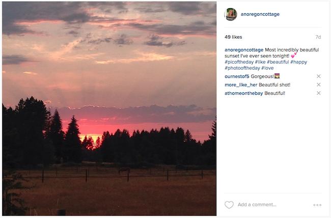 Instagrammed Sunset