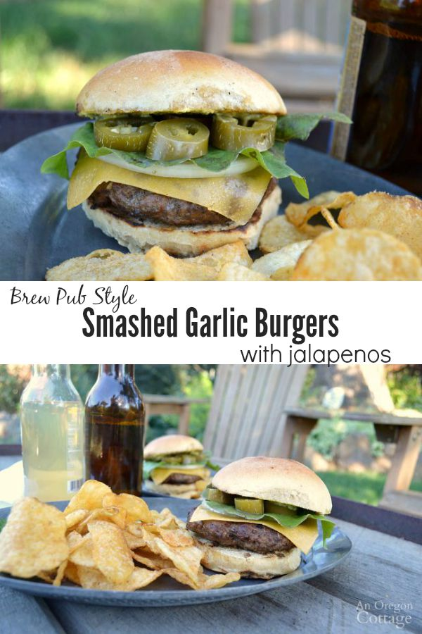 Smashed garlic burgers pin