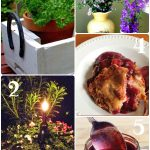 Tuesday Garden Party Features 7.14.15- diy garden projects, berry cobbler, blueberry syrup & more
