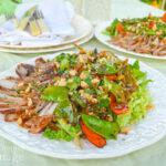 Thai Grilled Pork-Vegetable Salad