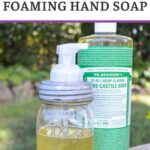 how to make foaming hand soap pin image