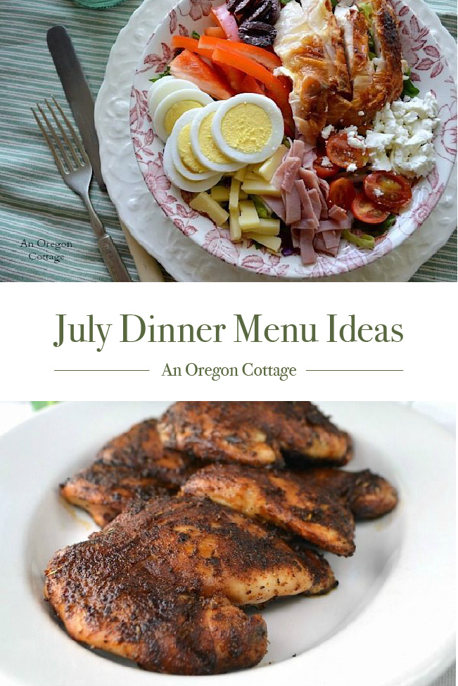 July Dinner Menu Ideas