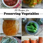 36 Recipes for Preserving Vegetables Freezing, Drying, and Canning