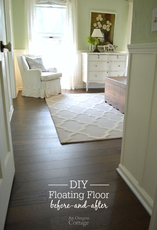 DIY Floating Floor Before and After- an easy update you can do in a day