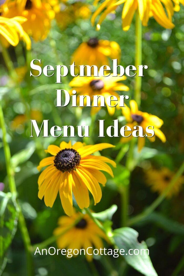 September Dinner Menu Ideas