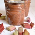 Sweetened only with honey, this rhubarb jam has a zing of ginger that makes toast and PB&J amazing
