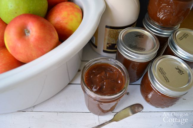 The easiest way to make apple butter - in a slow cooker - and this recipe uses only maple syrup to sweeten it perfectly!