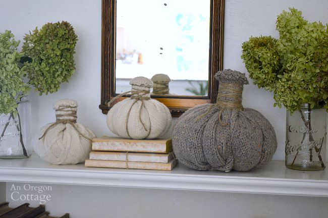 Easy felted wool sweater pumpkins